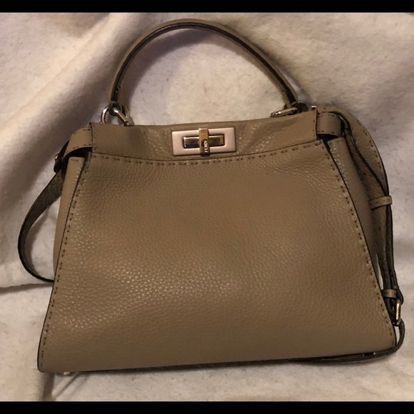 e92db18aa3 Fendi Handbags - Fendi Peekaboo Rope Beige Pristine